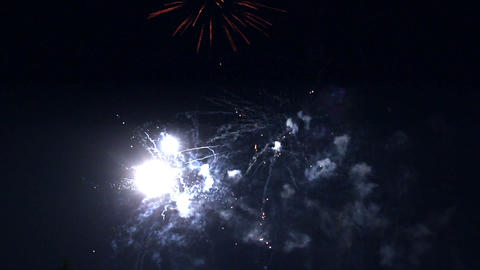 celebration fireworks - timelapse Stock Video Footage