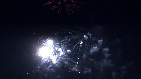 celebration fireworks - timelapse Stock Video Footage