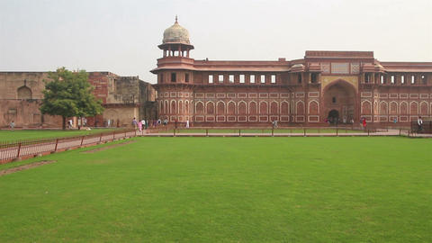 historic buildings in Agra fort - India Footage