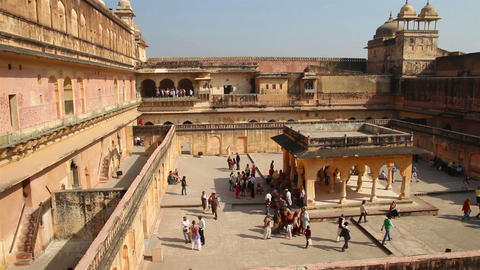 fort in Jaipur India Stock Video Footage