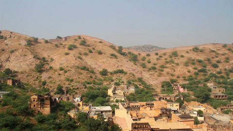 landscape near fort in Jaipur India Footage
