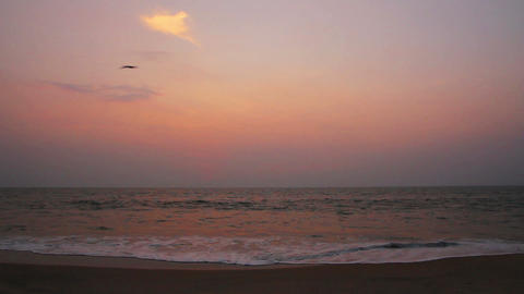 beauty landscape with sea after sunset Stock Video Footage