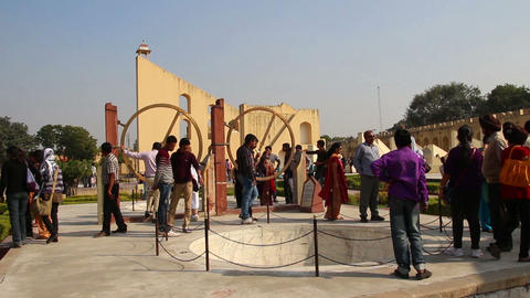astrology observatory 18th century in Jaipur India Stock Video Footage