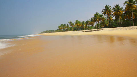 beautiful beach landscape in India Stock Video Footage