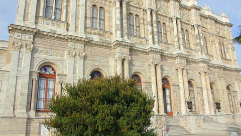 Dolmabahce sultan palace museum in Istanbul Turkey Footage