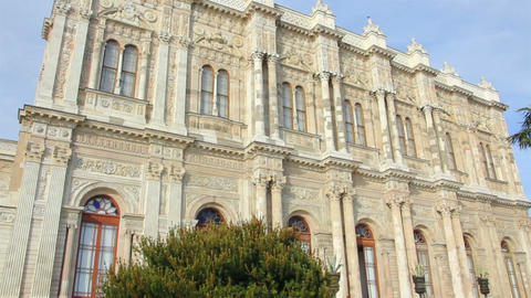 Dolmabahce sultan palace museum in Istanbul Turkey Stock Video Footage