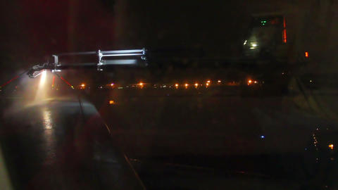 processing aircraft anti-icing Stock Video Footage