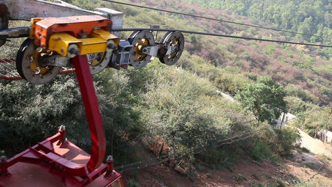 funicular in India Stock Video Footage