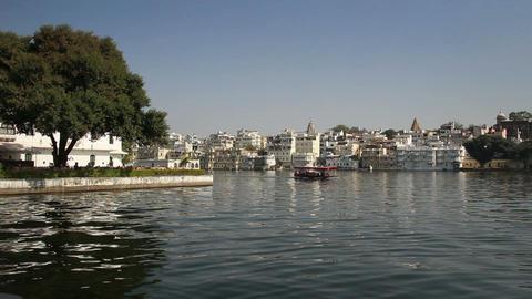 Pichola lake in Udaipur India Footage