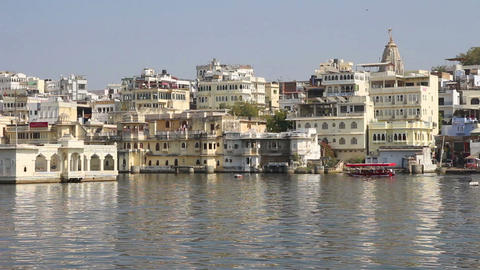 Pichola lake in Udaipur India Stock Video Footage