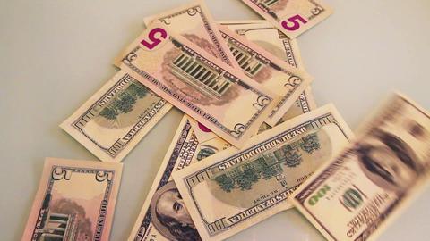falling dollar banknotes Footage