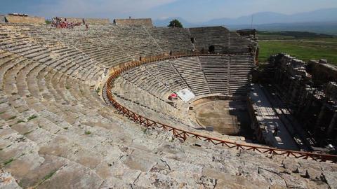 ancient amphitheater in Pamukkale Turkey Footage