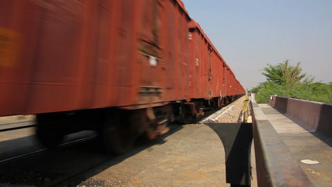 freight train - Indian railway Stock Video Footage