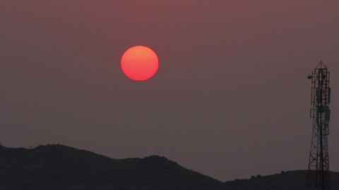 timelapse with sunset in India Stock Video Footage
