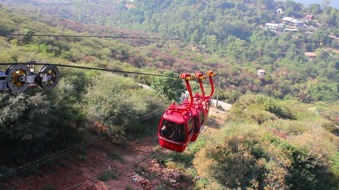 funicular in Udaipur India timelapse Stock Video Footage