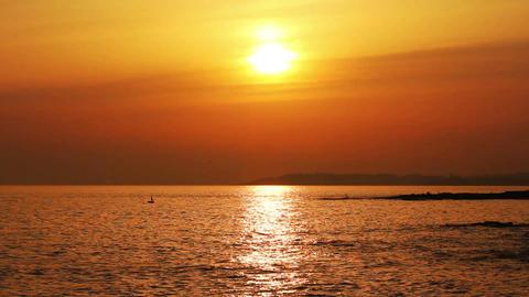 sunset over sea Stock Video Footage
