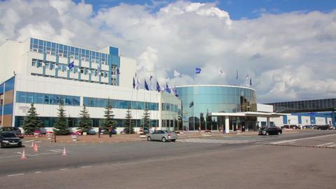 Plant brewer Baltika - St Petersburg Russia Stock Video Footage
