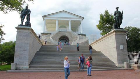 Cameron Gallery in Pushkin park, St. Petersburg Ru Stock Video Footage