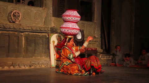 Dances of India - view in Udaipur Rajasthan Stock Video Footage