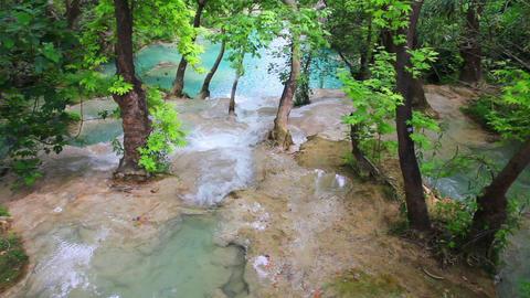 waterfall in forest - Kurshunlu Turkey Stock Video Footage