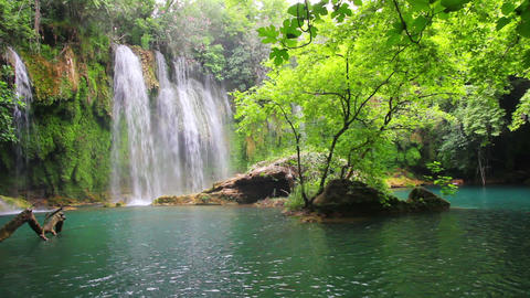 waterfall in forest - Kurshunlu Turkey Footage