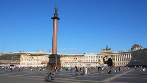 Palace Square in St. Petersburg Footage