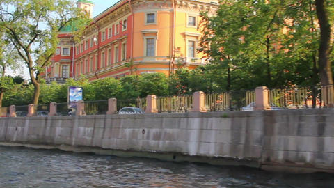 Mikhailovsky Castle in St. Petersburg Russia - vie Stock Video Footage