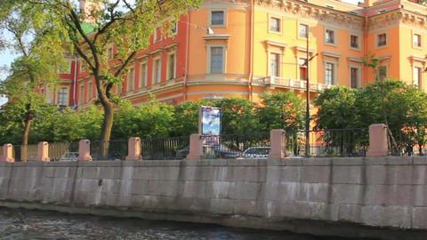 Mikhailovsky Castle in St. Petersburg Russia - vie Stock Video Footage