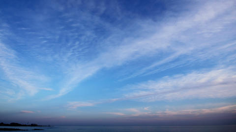 evening clouds and sea timelapse landscape Stock Video Footage