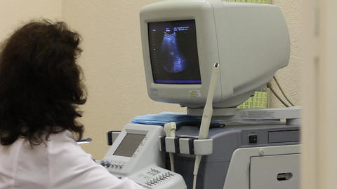 Ultrasound Examination stock footage