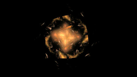 Abstract Rotating Orange Object on Black Footage