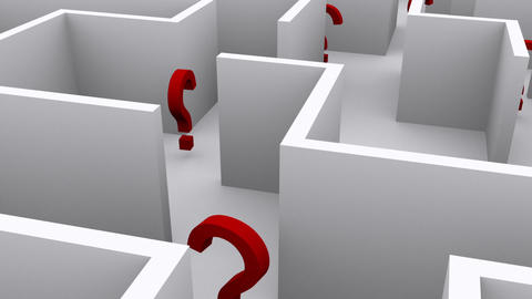 Question Marks In A Maze stock footage