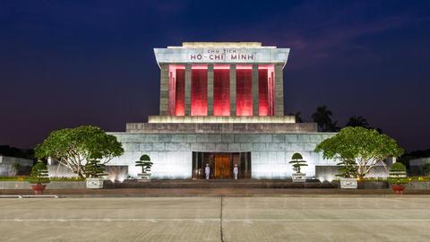 1080 - HANOI Time lapse - Ho Chi Minh Mausoleum Footage