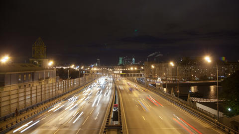 Night highway timelapse 4K Stock Video Footage