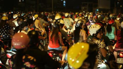 SCOOTER TRAFFIC - SAIGON, VIETNAM Footage