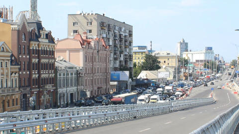 Traffic In Kyiv stock footage