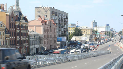 traffic in Kyiv Stock Video Footage