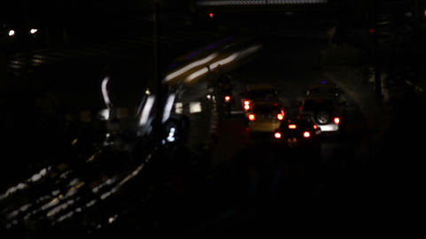 Night City Traffic 10 Stock Video Footage