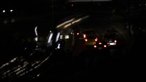 Night City Traffic 10 Stock Video Footage