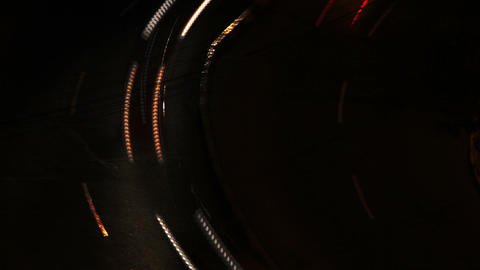 Night City Traffic 07 Stock Video Footage