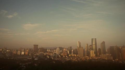 overlooking pollution urban & dust Stock Video Footage