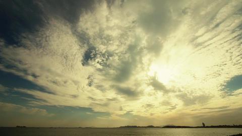 sunset clouds & sea skyline Animation
