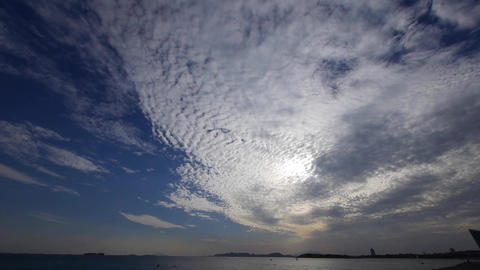 timelapse clouds,sea skyline Stock Video Footage