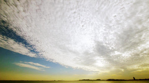 timelapse sunset clouds,sea skyline Animation