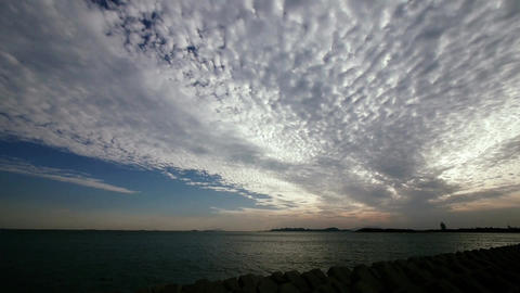 panoramic of clouds,sea skyline Stock Video Footage
