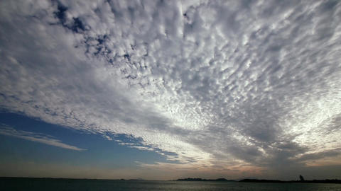 panoramic of clouds,sea skyline Animation