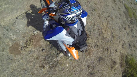 Sport Motocross exciting racing exciting tough adv Stock Video Footage