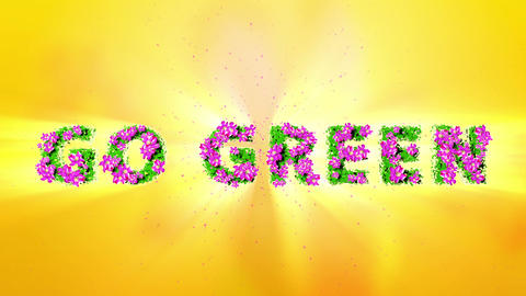 GO GREEN Text 3D Motion Graphics Animation