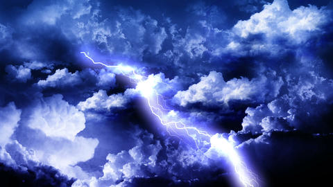 Lightning Thunderstorm in Sky Animation