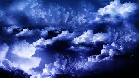 Lightning Thunderstorm in Sky Stock Video Footage